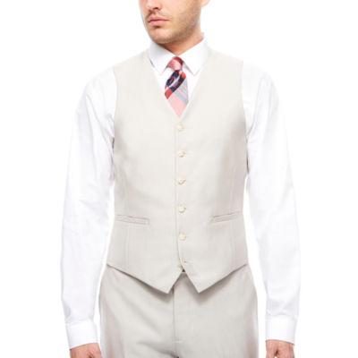 J.Ferrar Bone Shimmer Vest-Slim Fit