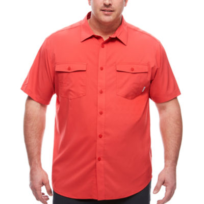 Columbia Sportswear Co. Short Sleeve Button-Front Shirt-Big and Tall