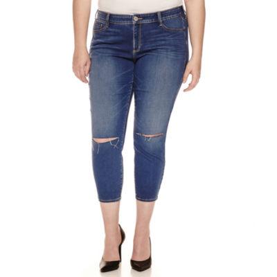 Arizona Cropped Pants-Juniors Plus