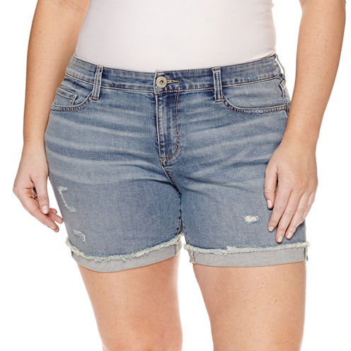 Arizona Midi Shorts-Juniors Plus