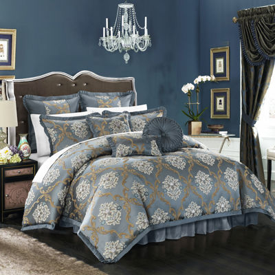 Chic Home Aubrey 9-pc. Jacquard Comforter Set