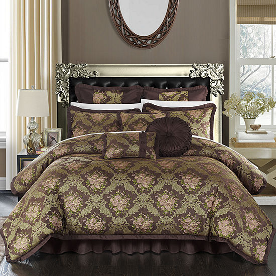 Chic Home Le Mans 9 Pc Jacquard Comforter Set