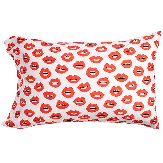 Scribble Lips Standard Pillowcases
