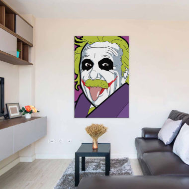 Icanvas Albert E. As The Joker Canvas Art