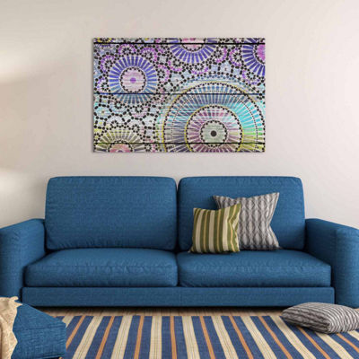 Icanvas Indian Wood Pattern Canvas Art