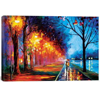 Icanvas Alley By The Lake Ii Canvas Art