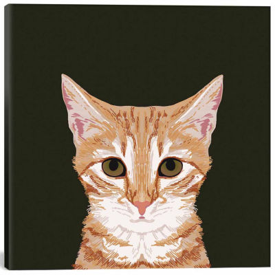 Icanvas Orangetabby Canvas Art
