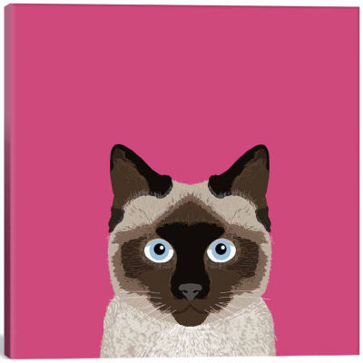 Icanvas Siamese Canvas Art