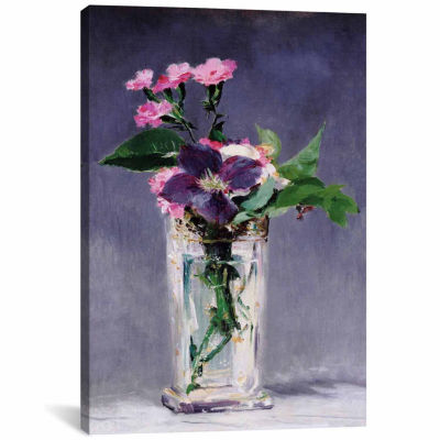 Icanvas Ragged Robins And Clematis Canvas Art