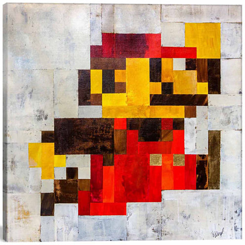 Icanvas Post Modern Mario Canvas Art