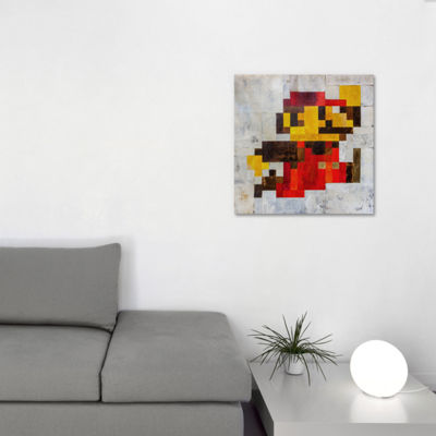 Icanvas Post Modern Mario Canvas Art