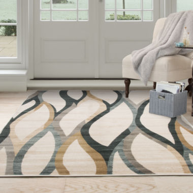Cambridge Home Contemporary Curves Rectangular Rugs