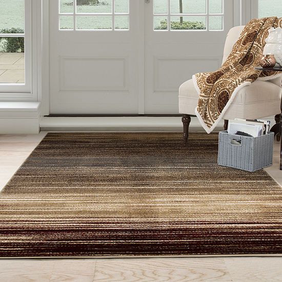 Cambridge Home Abstract Stripes Rectangular Indoor Rugs