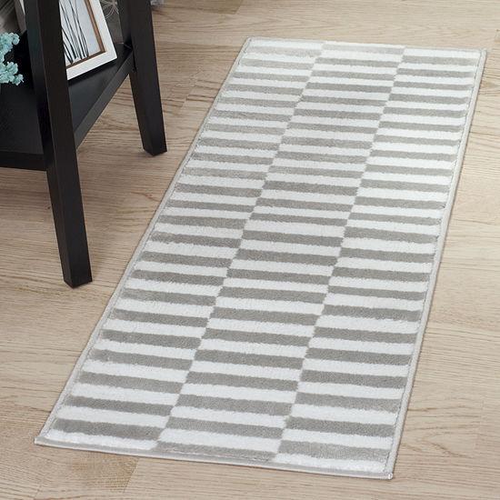 Cambridge Home Checkered Stripe Rectangular Indoor Rugs