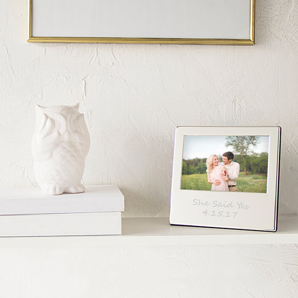 Cathy's Concepts Personalized Silver Picture Frame