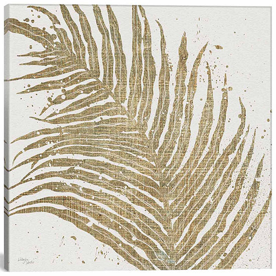 Icanvas Gold Leaves I Canvas Art