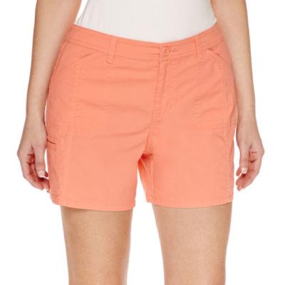 """St. John's Bay Poplin Cargo 5"""" Shorts"""