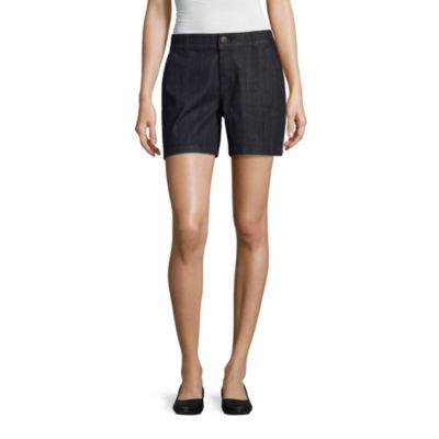 "Liz Claiborne 5"" Denim Shorts"