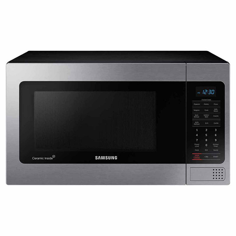 1.1 Cu. Ft. Countertop Microwave With Grilling Element - Mg11H2020Ct/Aa - Samsung - Counter Microwaves - Stainless Steel - Stainless Steel