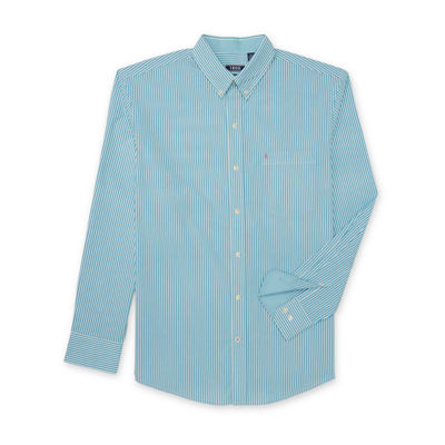IZOD Long Sleeve Premium Essential Stripe Button Down Shirt