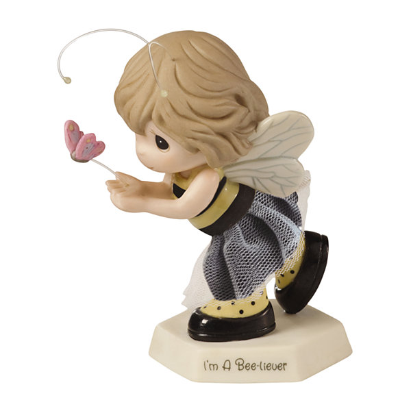 "Precious Moments  ""I'm A Bee-liever"" BisquePorcelain Figurine  #154017"