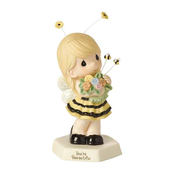 "Precious Moments  ""You're Bee-utiful"" BisquePorcelain Figurine #154018"