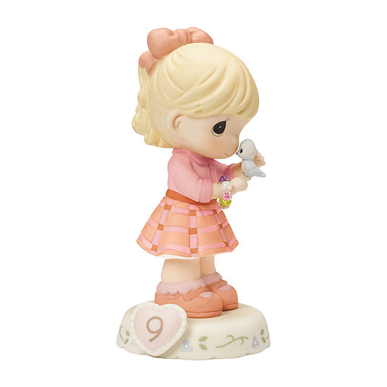 """Precious Moments  """"Growing In Grace  Age 9""""  Bisque Porcelain Figurine  Blonde Girl  #154036"""