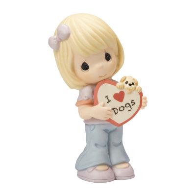 "Precious Moments  ""I Love Dogs"" Bisque Porcelain Figurine #154047"