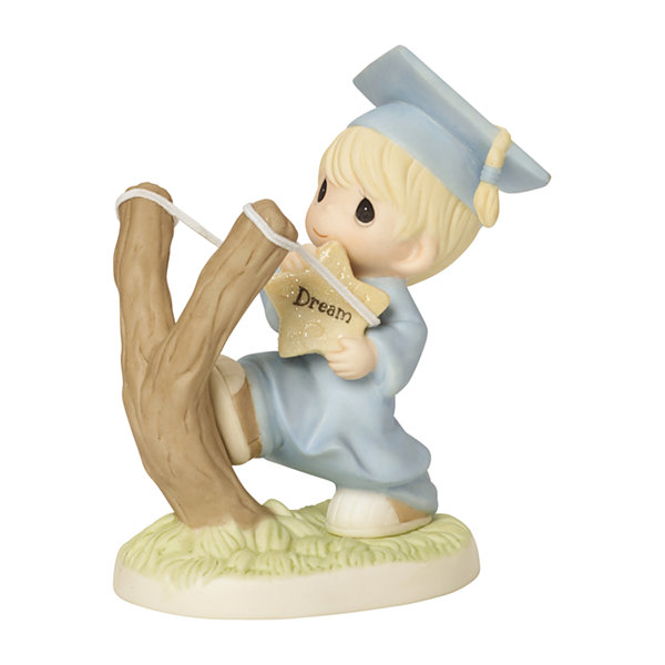 "Precious Moments  ""Shoot For The Stars""  Bisque Porcelain Figurine  Boy  #154024"