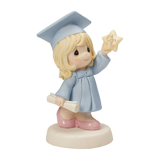 """Precious Moments  """"Reach For The Stars""""  Bisque Porcelain Figurine  Girl  #154025"""