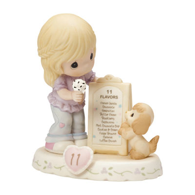 "Precious Moments  ""Growing In Grace  Age 11""Bisque Porcelain Figurine  Blonde Girl  #154038"
