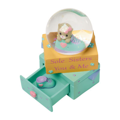 "Precious Moments  ""Sole Sisters – You And MeResin Figurine  Snow Globe  #154440"