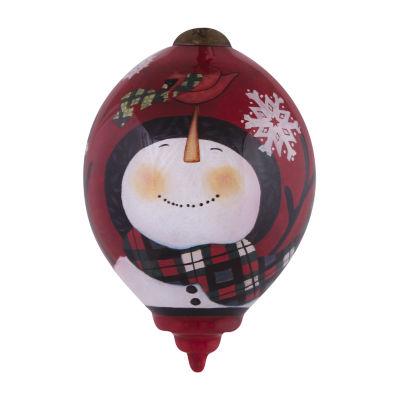 "Ne'Qwa Art  ""Santa's Woodland Friends"" Artist Susan Winget  Princess-Shaped Glass Ornament#7141149"