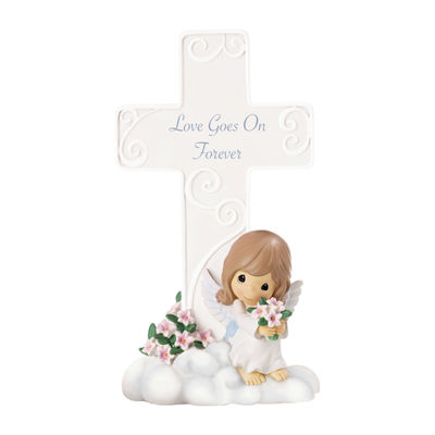 "Precious Moments  ""Love Goes On Forever""  Resin Cross  #152401"