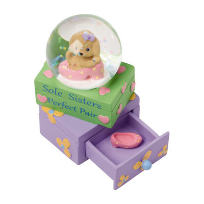 "Precious Moments  ""Sole Sisters—Perfect PairResin Figurine  Snow Globe  #154441"