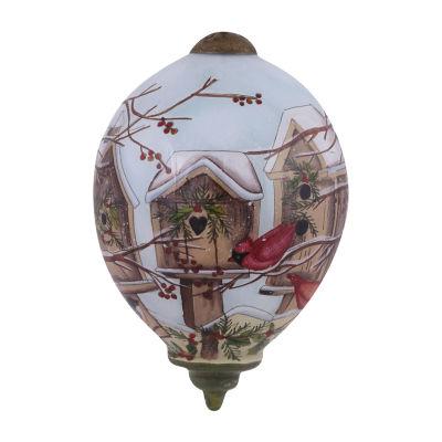 "Ne'Qwa Art  ""Home For The Holidays"" Artist Susan Winget  Petite Princess-Shaped Glass Ornament#7151166"
