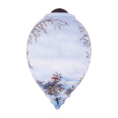 """Ne'Qwa Art  """"Snowman And Cardinal"""" Artist Dona Gelsinger  Princess-Shaped Glass Ornament  #7141111"""