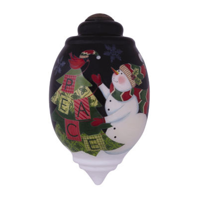 "Ne'Qwa Art  ""Christmas Peace""  Artist SusanWinget  Trillion-Shaped Glass Ornament  #7141142"