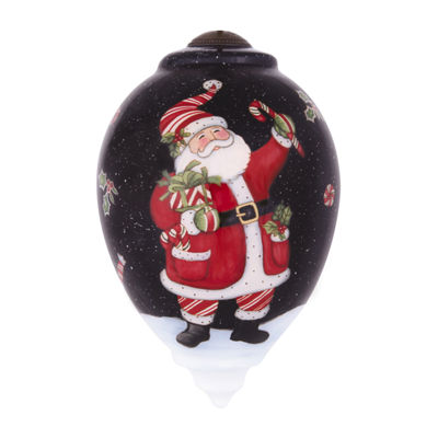 "Ne'Qwa Art  ""My First Christmas"" Artist Susan Winget  Petite Round-Shaped Glass Ornament  #7141152"