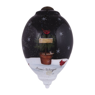 "Ne'Qwa Art  ""Gifts From The Garden"" Artist Susan Winget  Princess-Shaped Glass Ornament  #7151154"