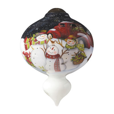 """Ne'Qwa Art  """"Christmas Is Better Together"""" Artist Susan Winget  Marquis-Shaped Glass Ornament#7151162"""