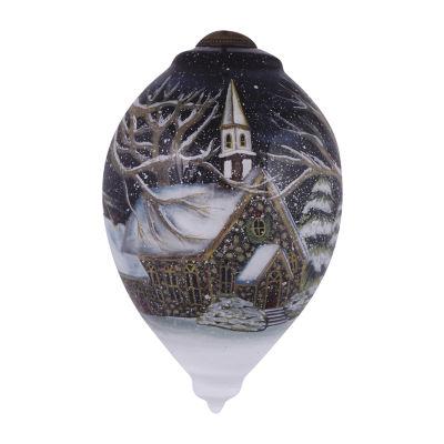 "Ne'Qwa Art  ""Oh Come  All Ye Faithful"" Artist Susan Winget  Princess-Shaped Glass Ornament  #7151168"
