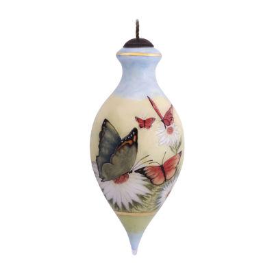 "Ne'Qwa Art  ""Nature's Beauty""  Artist Susan Winget  Brilliant-Shaped Glass Ornament  #7124101"