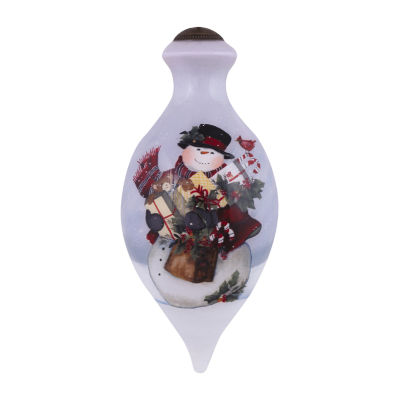 "Ne'Qwa Art  ""Frosty's Gifts"" Artist SusanWinget  Brilliant-Shaped Glass Ornament  #7151158"