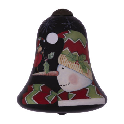 "Ne'Qwa Art  ""A Simple Gift""  Artist Susan Winget  Bell-Shaped Glass Ornament  #7141143"