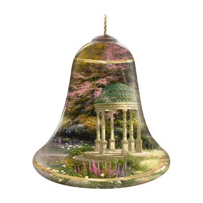 "Ne'Qwa Art  ""The Garden Of Prayer""  Artist Thomas Kinkade  Bell-Shaped Glass Ornament  #7124112"