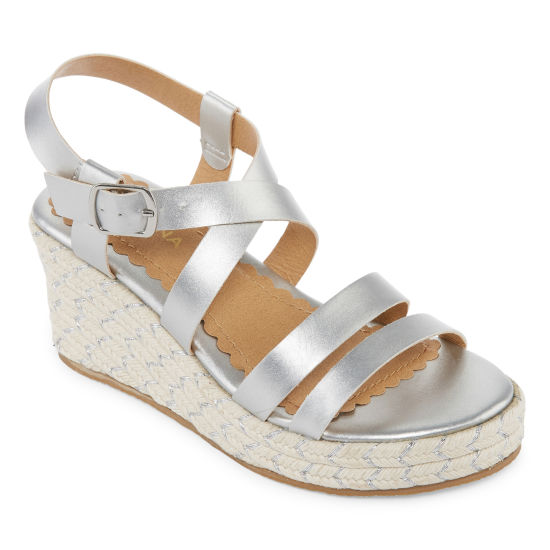 Arizona Belinda Girls Wedge Sandals - Little Kids/Big Kids