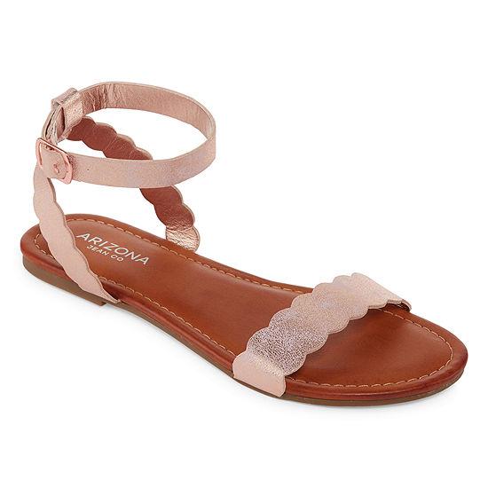 Arizona Womens Giselle Adjustable Strap Flat Sandals