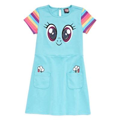 Short Cap Sleeve My Little Pony A-Line Dress - Preschool Girls