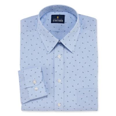 Stafford Travel Performance  Super Shirt Long Sleeve Broadcloth Dress Shirt